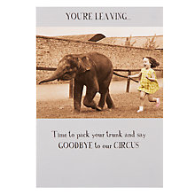 Buy Pigment Little Girl and Elephant Leaving Card Online at johnlewis.com