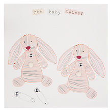 Buy Belly Button Marmalade Twins Greeting Card Online at johnlewis.com