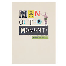 Buy Paperlink Man Birthday Card Online at johnlewis.com