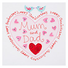 Buy Blue Eyed Sun Mum and Dad Anniversary Card Online at johnlewis.com