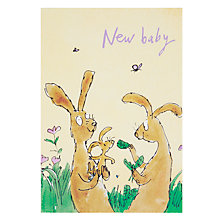 Buy Woodmansterne Bunnies and Baby New Baby Greeting Card Online at johnlewis.com