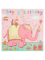 Twizler Pink Elephant Birthday Card