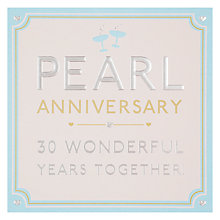 Buy Hotchpotch Pearl Anniversary Card Online at johnlewis.com