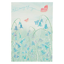Buy Woodmansterne Pastel Bluebells Sympathy Card Online at johnlewis.com