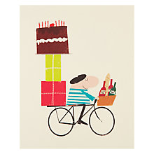 Buy Art File Man On Bike Greeting Card Online at johnlewis.com