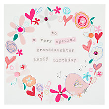 Buy Belly Button Marmalade Happy Birthday Granddaughter Birthday Card Online at johnlewis.com