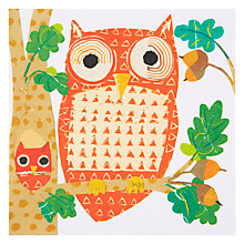 Buy Art Press Owls On Branch Greeting Card Online at johnlewis.com