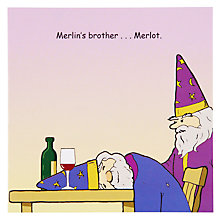 Buy Twizler Merlin's Brother Greeting Card Online at johnlewis.com