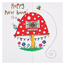 Buy Rachel Ellen Happy New Home Toadstool Greeting Card Online at johnlewis.com