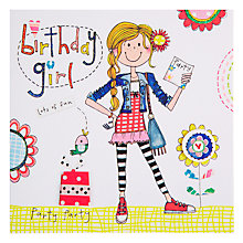 Buy Rachel Ellen Party Girl Birthday Card Online at johnlewis.com