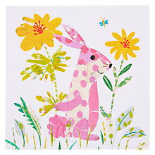 Buy Art Press Pink Bunny Greeting Card Online at johnlewis.com