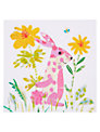 Art Press Pink Bunny Greeting Card