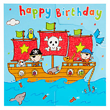 Buy Twizler Pirate Ship Birthday Card Online at johnlewis.com