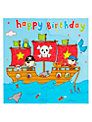 Twizler Pirate Ship Birthday Card