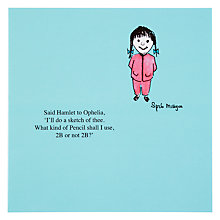 Buy Woodmansterne Pencil 2B Greeting Card Online at johnlewis.com