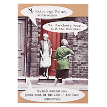 Buy Pigment Two Ladies On Doorstep Acute Angina Greeting Card Online at johnlewis.com