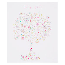 Buy Woodmansterne Tree with Gifts New Baby Girl Greeting Card Online at johnlewis.com