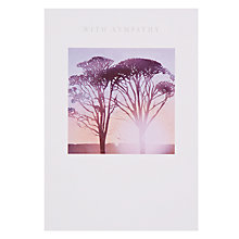 Buy Woodmansterne Sunset Through Trees Sympathy Card Online at johnlewis.com