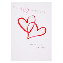 Buy Woodmansterne Painted Hearts Connecting Birthday Card Online at johnlewis.com