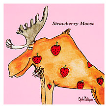 Buy Woodmansterne Strawberry Moose Greeting Card Online at johnlewis.com