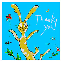 Buy Woodmansterne Rabbit Holding Flower Thank You Card Online at johnlewis.com