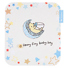 Buy Hotchpotch Teeny Tiny New Baby Boy Greeting Card Online at johnlewis.com