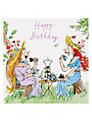 Woodmansterne Two Women Having Tea Birthday Card
