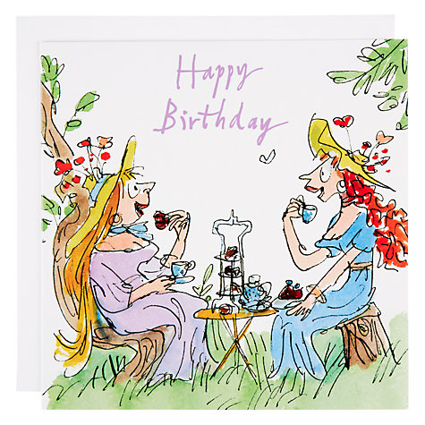Buy Woodmansterne Two Women Having Tea Birthday Card Online at johnlewis.com