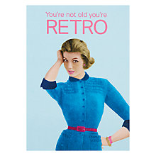 Buy Cath Tate Cards Retro Greeting Card Online at johnlewis.com