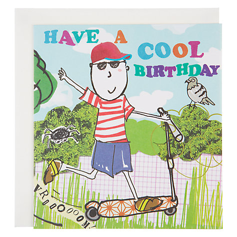 Buy Caroline Gardner Scooter Birthday Card Online at johnlewis.com