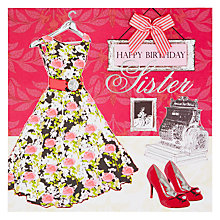 Buy Laura Darrington Sister Happy Birthday Card Online at johnlewis.com