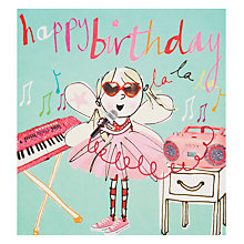 Buy Caroline Gardner Singer Birthday Card Online at johnlewis.com