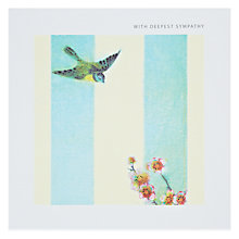 Buy Black Olive Bird Sympathy Card Online at johnlewis.com