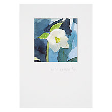 Buy Woodmansterne Thinking Hellebore Sympathy Card Online at johnlewis.com
