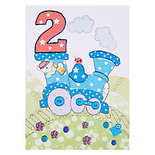 Buy Paperhouse Train 2nd Birthday Card Online at johnlewis.com