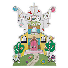 Buy Rachel Ellen Designs Tiddlywinks Christening Day Church Card Online at johnlewis.com