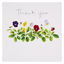 Buy Woodmansterne Pretty Pansies Thank You Card Online at johnlewis.com