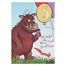 Buy Woodmansterne Gruffalo 3th Birthday Card Online at johnlewis.com