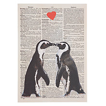 Buy Art Press Two Penguins with Heart Greeting Card Online at johnlewis.com