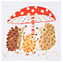 Buy Art Press Three Hedgehogs and Toadstool Greeting Card Online at johnlewis.com