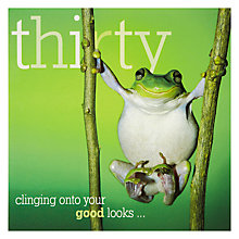 Buy Woodmansterne Frog Holding Branches 30th Birthday Card Online at johnlewis.com
