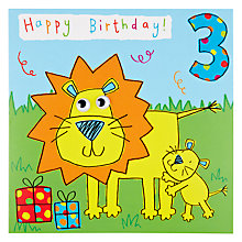 Buy Twizler Lion 3rd Birthday Card Online at johnlewis.com