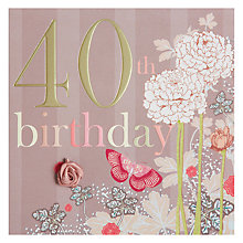 Buy Laura Darrington 40th Birthday Card Online at johnlewis.com