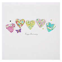 Buy Evie and Me Hearts and Butterfly Anniversary Card Online at johnlewis.com