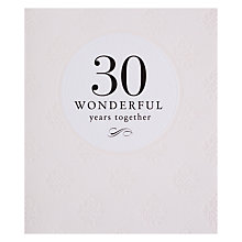 Buy Pigment 30 Wonderful Years Anniversary Card Online at johnlewis.com
