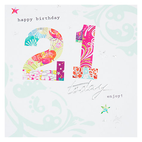 Buy Hotchpotch Happy 21st Birthday Card Online at johnlewis.com
