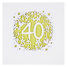 Buy Paperlink 40th Birthday Card Online at johnlewis.com