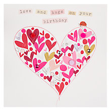 Buy Belly Button Marmalade Love and Hugs Birthday Card Online at johnlewis.com