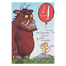 Buy Woodmansterne Gruffalo 4th Birthday Card Online at johnlewis.com