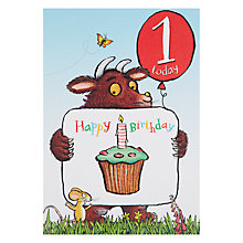 Buy Woodmansterne Gruffalo 1st Birthday Card Online at johnlewis.com